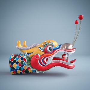 dragon boat head 3D model
