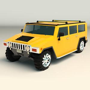 3D stylized interior virtual model