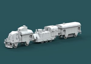 3D model armored train