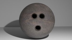 bowling ball leather skin 3D model