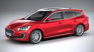 3D model focus wagon vignale