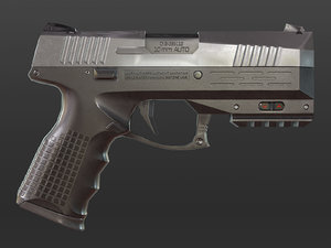 gameready pistol modern 3D model