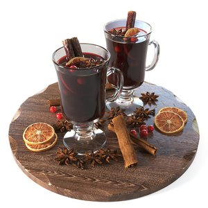 3D mulled wine