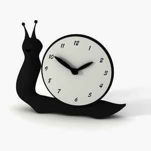 3D clock snail