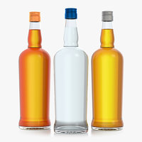 Glass Bottle 75 cl. Alcohol bottle 0.75L. Brandy. Whiskey. Vodka.