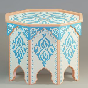 table painted 3D model