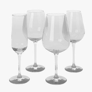 3ds max set ikea hederlig glass wine