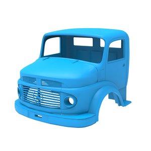3D printable 1924 2624 truck model