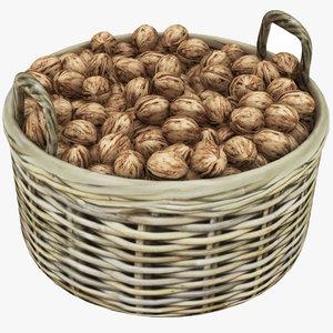 wooden basket walnut model