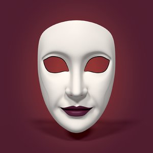 3D woman mask