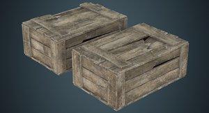 wooden box 4c 3D
