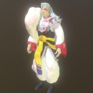 sesshomaru anime 3D model