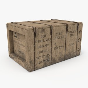military crate pbr 3D