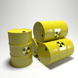 3D clean yellow barrel model