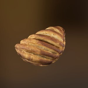 pear pastry 3D model