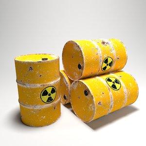 yellow barrel 3D model