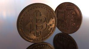 3D highpoly bitcoin model