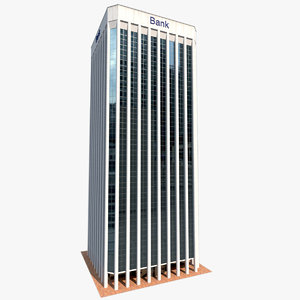 skyscraper city building modern architecture 3D model