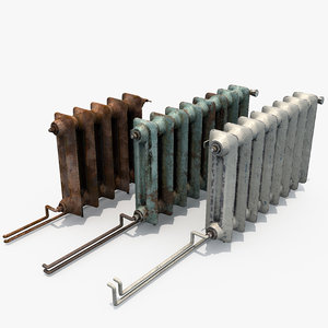 3D radiators rust columns