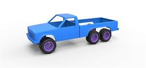 3D model diecast shell truck