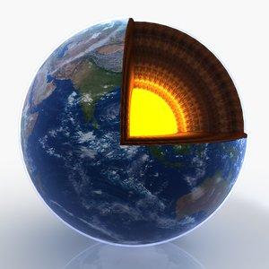 cut earth core 3D model