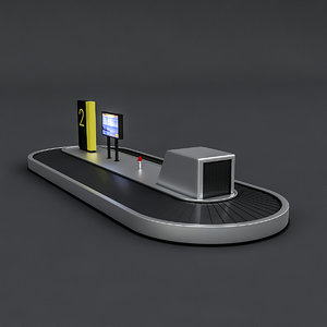 airport luggage 3D model