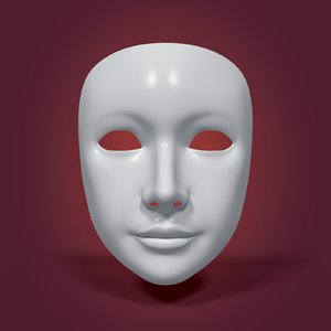 neutral mask 3D model