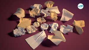 3D crumpled papers