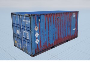 Low Poly Textured Shipping Container