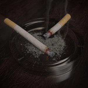 blender cigarette scene 3D model