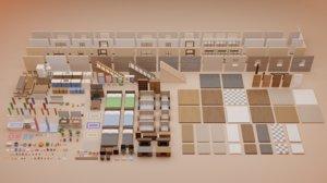 3D pack interior modular