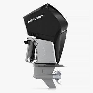 3D mercury 300c verado outboard motor