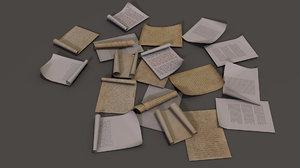 3D model paper office