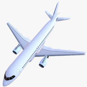 3D airplane airbus a320
