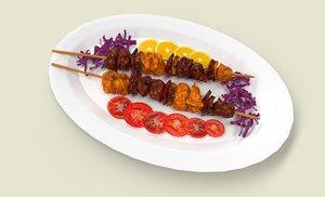 shashlik meat model