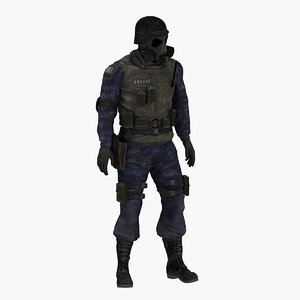 3D swat man pose model