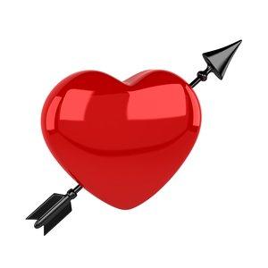 heart arrow 3D model