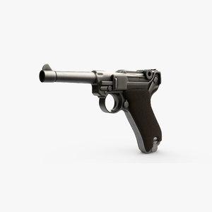 pistol luger p08 3D model