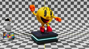 3D pacman figurine