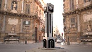 3D new homs clock tower
