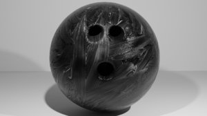 bowling ball black smear 3D model