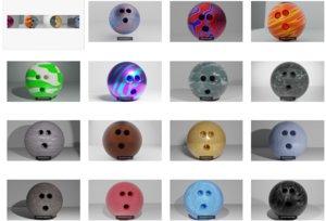 premium bowling ball 15 3D