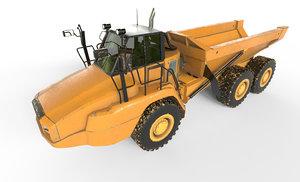 3D loader backhoe
