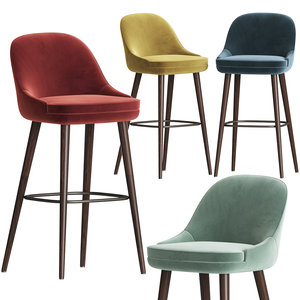 3D model 375 walter knoll bar stool