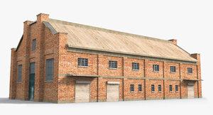 ready warehouse factory 3D model