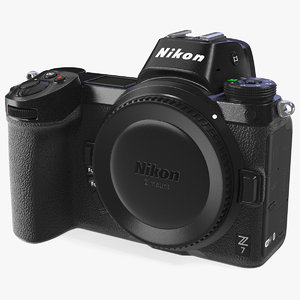 3D nikon z7 mirrorless digital camera model