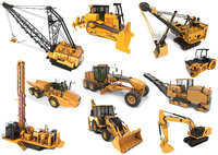 10 Industrial Vehicles Collection