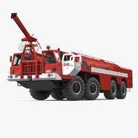 Airport Fire Fighting Vehicle MAZ AA 60 Rigged