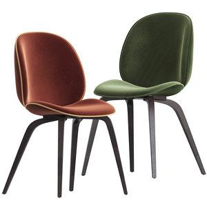 3D beetle dining chair gubi model