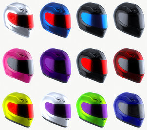motorcycle agv helmet 3D model